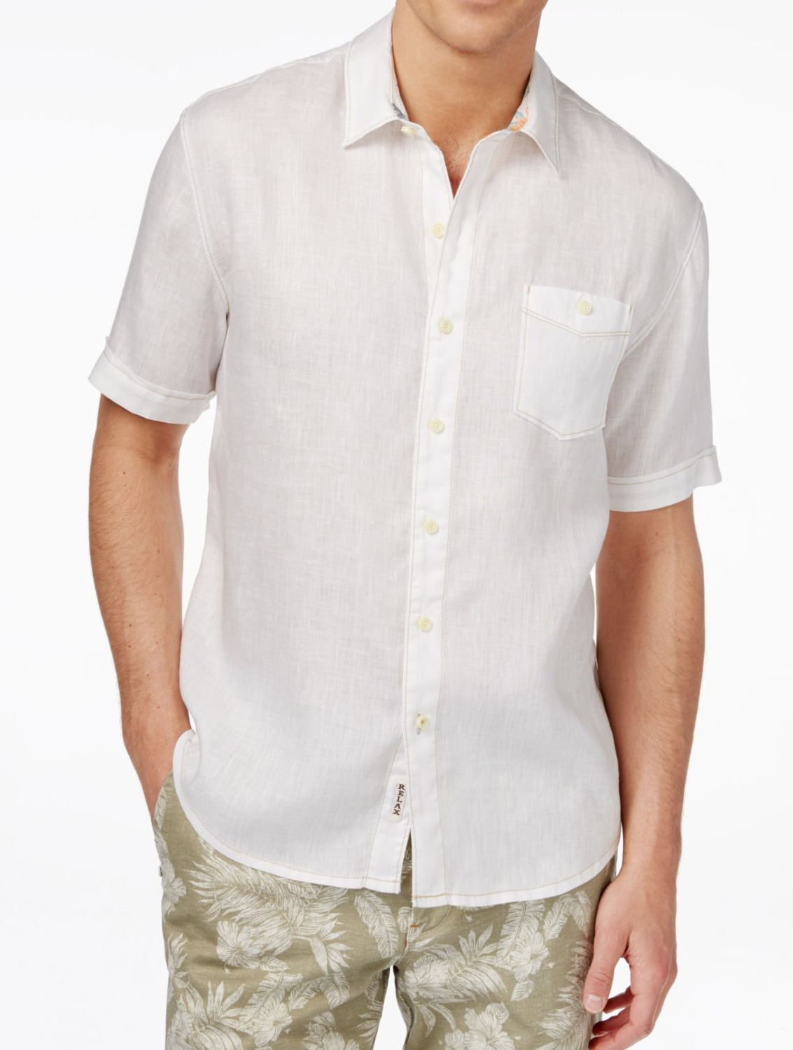 Tommy Bahama New White Mens Size Large L Front Pocket