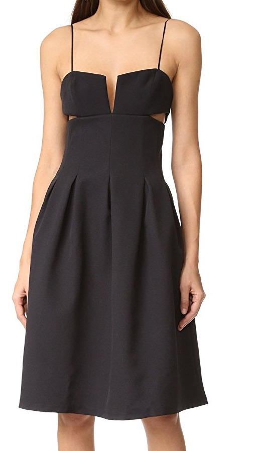 Kendall-Kylie-NEW-Black-Womens-US-Size-Large-L-Cutout-A-Line-Dress-278-695