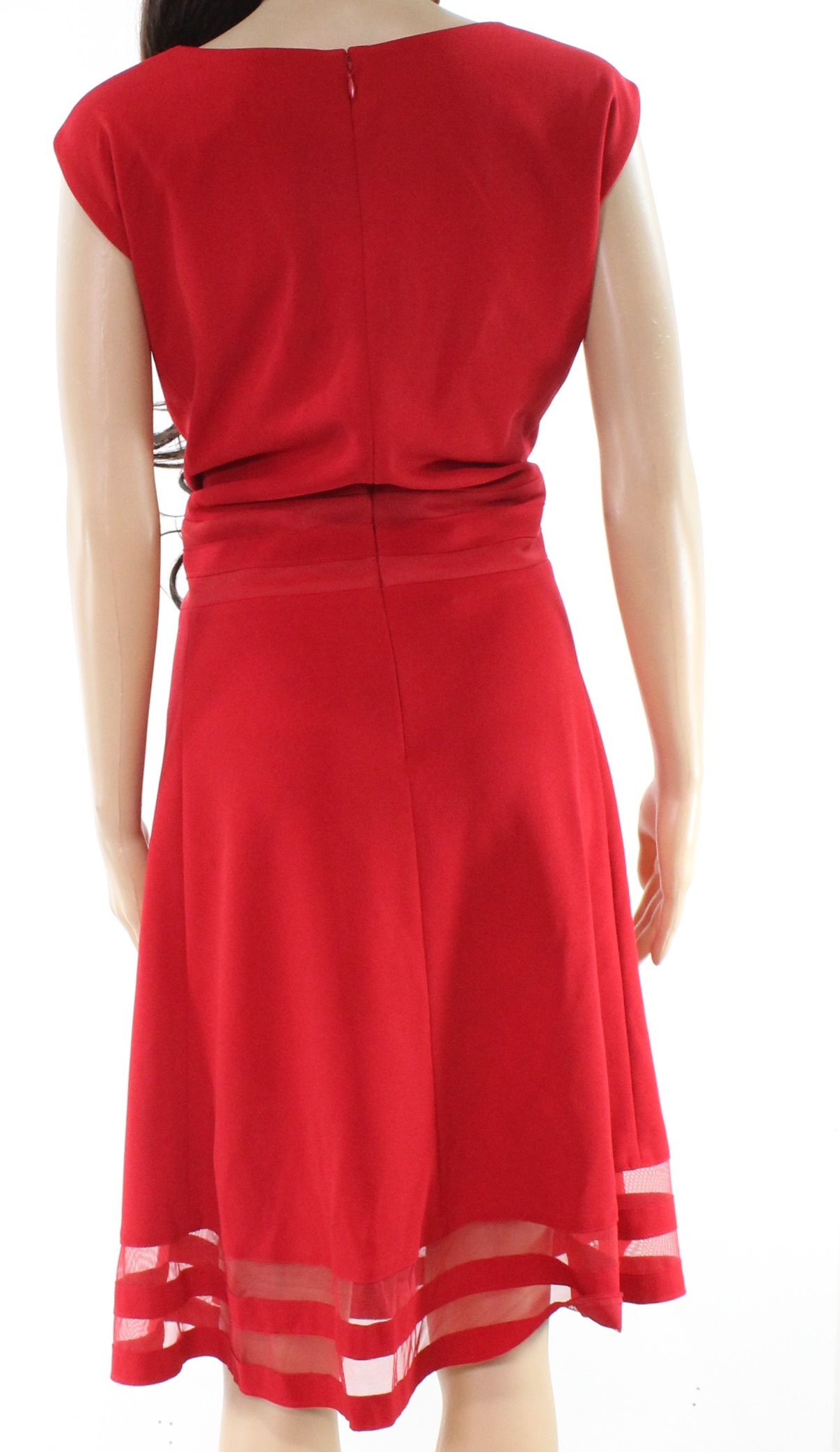 f820846a278d Details about Calvin Klein NEW Red Womens Size 22W Plus Fit   Flare Shift  Dress  99 077