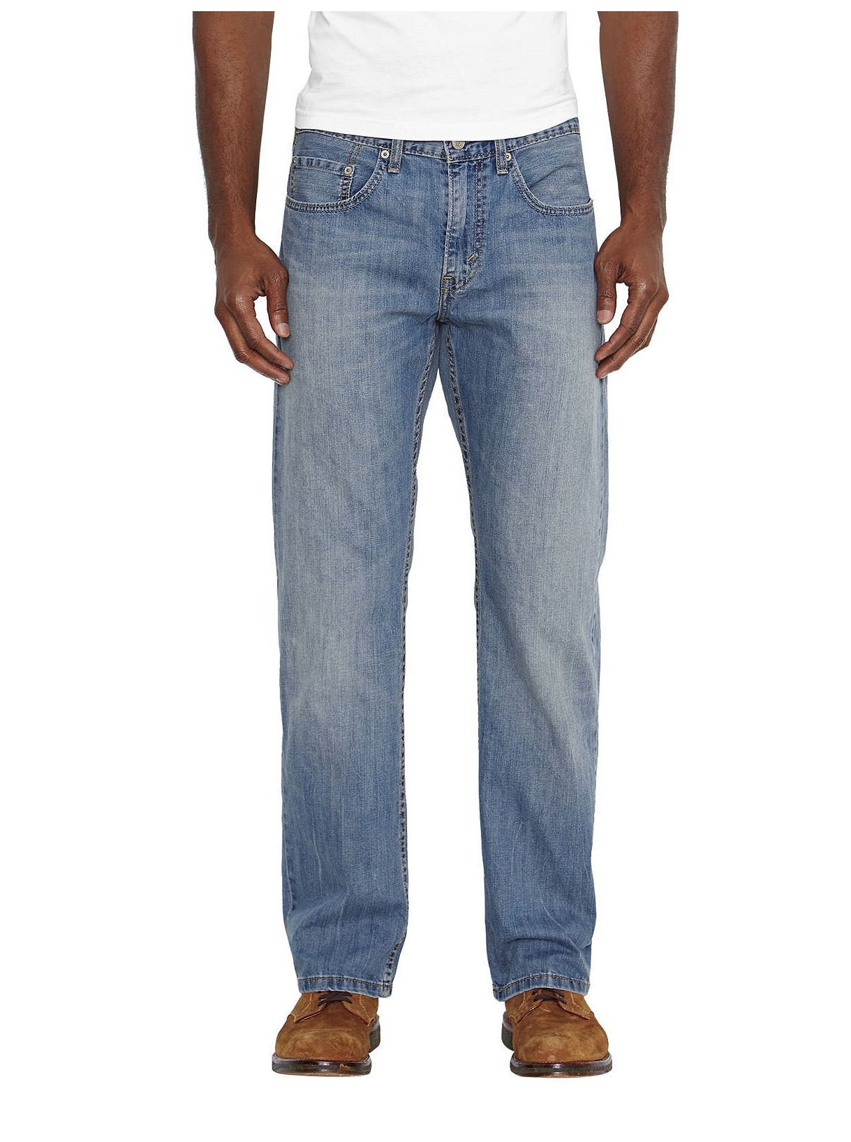 4914558e Details about Levi's NEW Blue Mens Size 52x30 559 Relaxed-Fit Straight Leg  Jeans $69- 795