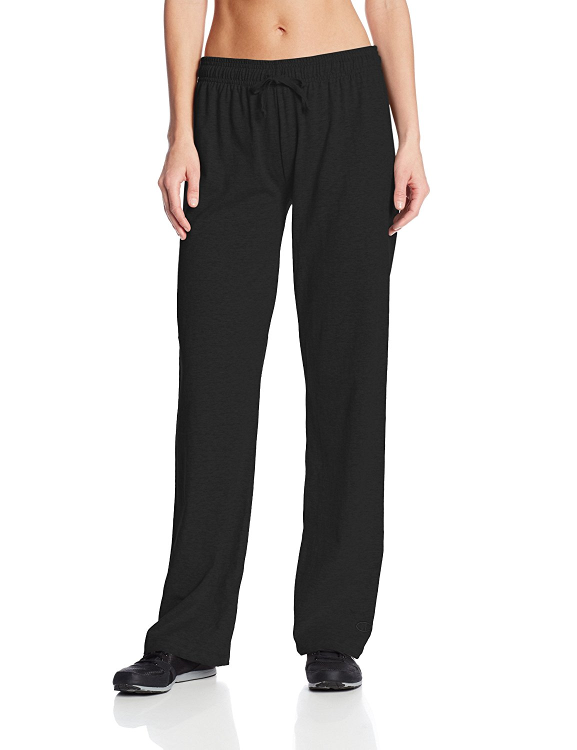 0cf7f3349bdf Details about Champion NEW Deep Black Womens Size 2XL Plus Jersey Stretch  Pants  30- 209