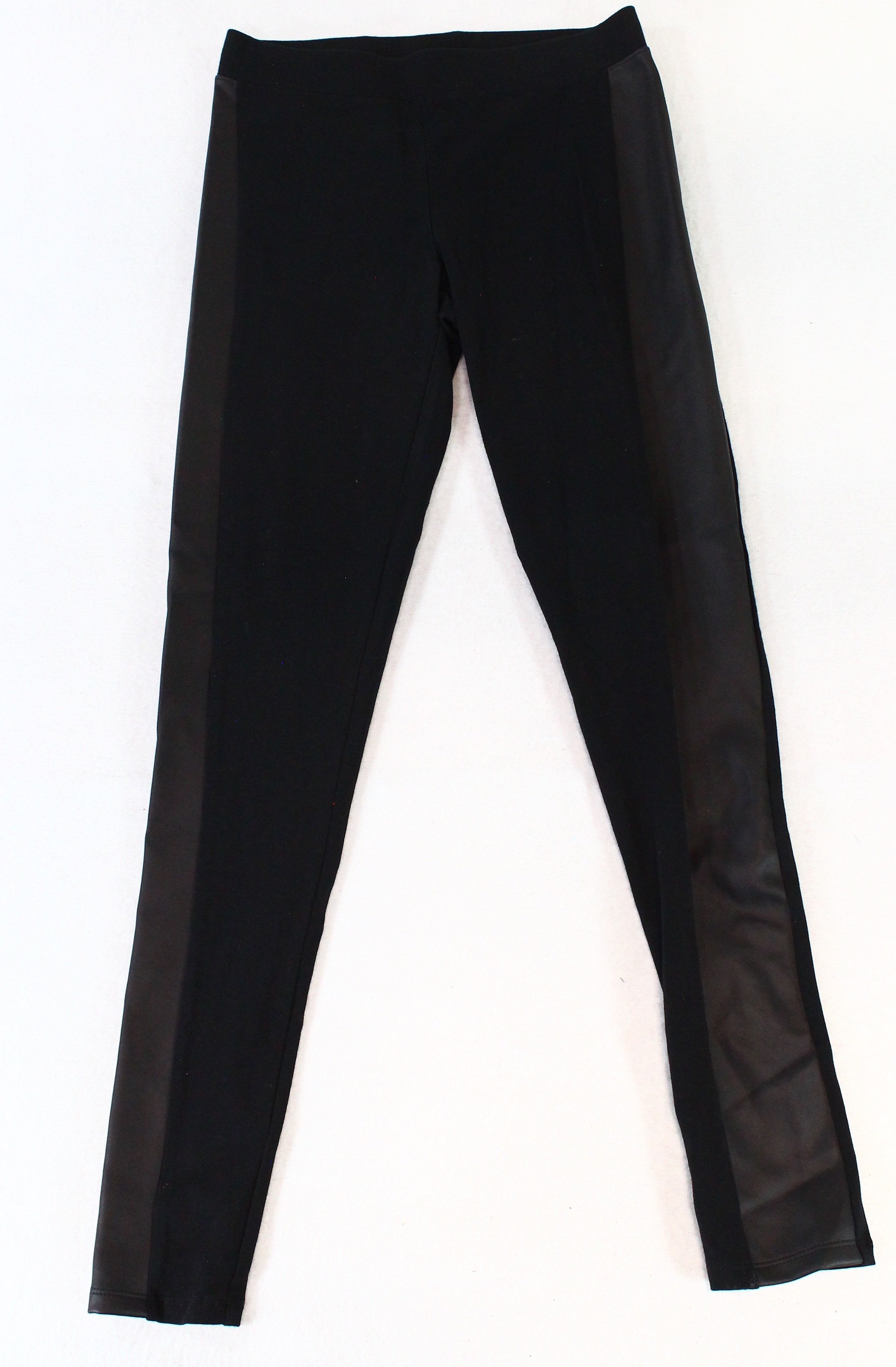 3b7b6e1d72f93 Details about Express NEW Black Womens Size XS Faux Leather Striped Stretch  Legging $40 023