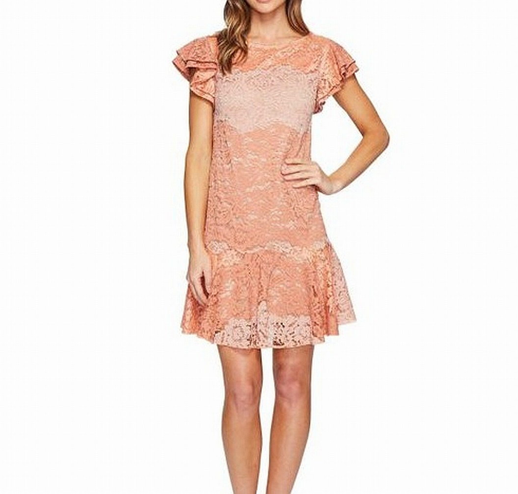 Eva by Eva Franco NEW Rosa damen USA Größe 6 Lotus Lace Sheath Dress  470