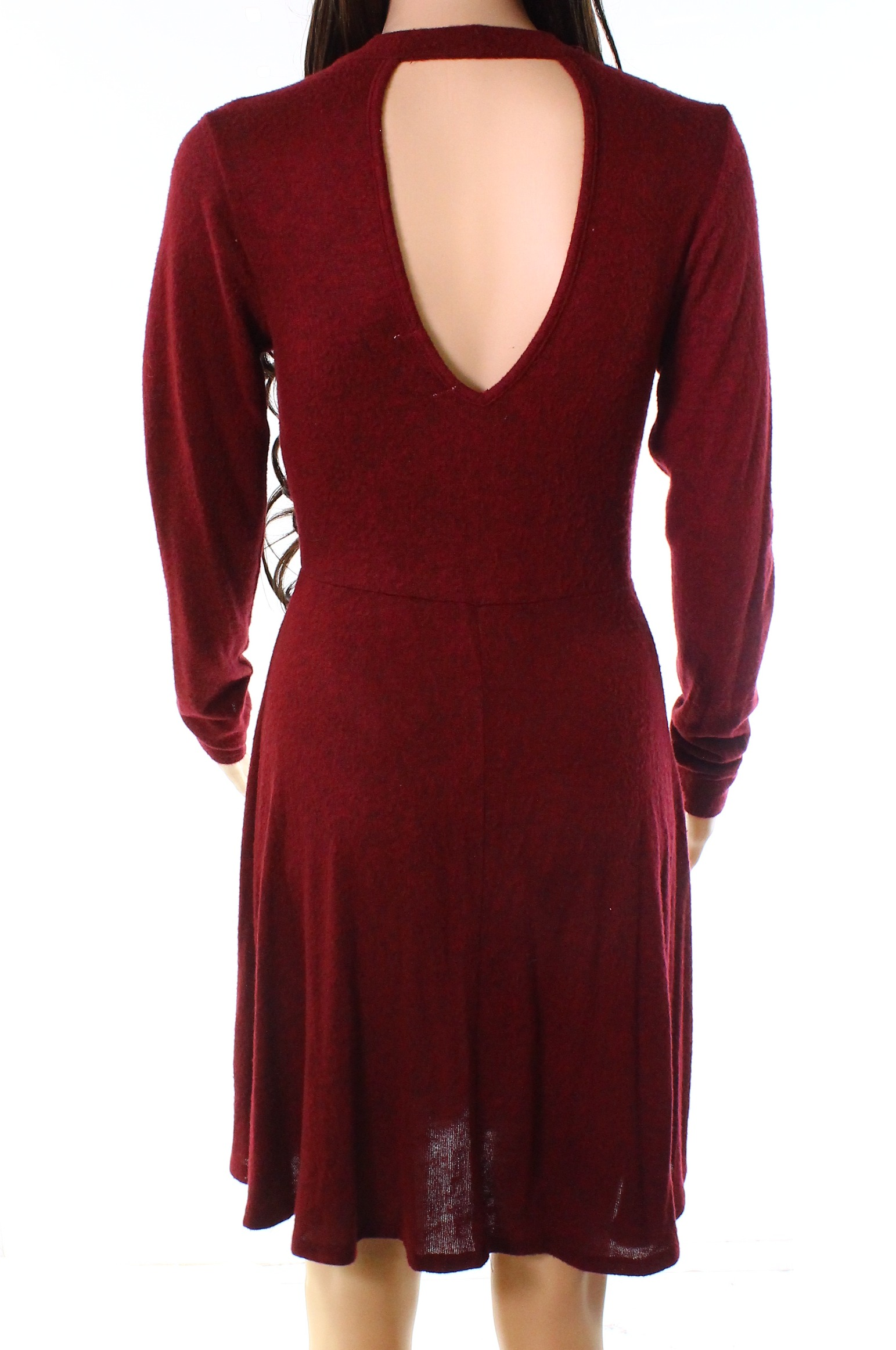 bd427d18ed0 Details about Moa Moa NEW Red Women s Size XS V-Neck Knit Stretch A-Line  Dress  42 869