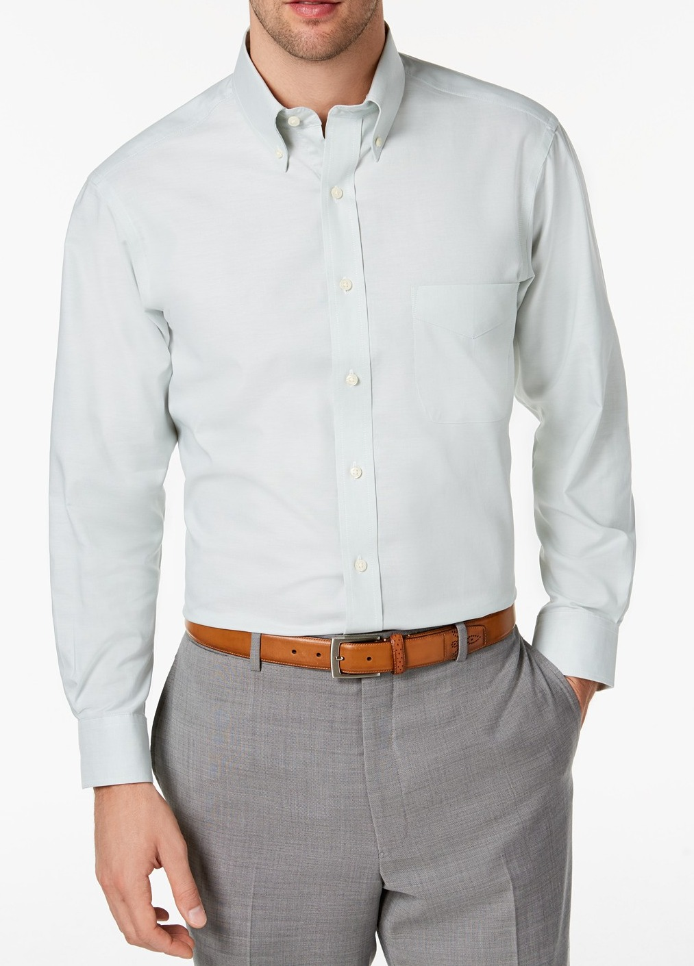 Details about Club Room Mens Sage Green Size 16 12 Oxford Solid Slim Fit Dress Shirt $55 114