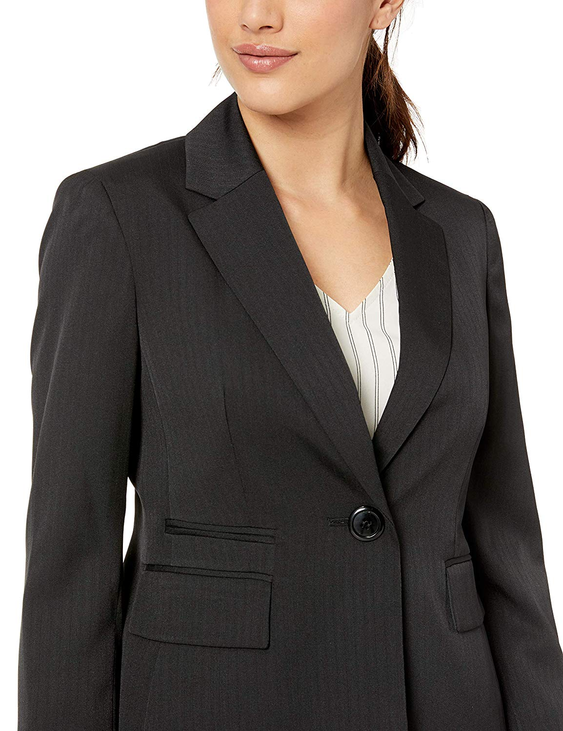 Le Suit Plus Size Suit, Belted Notched Collar Jacket & Wide