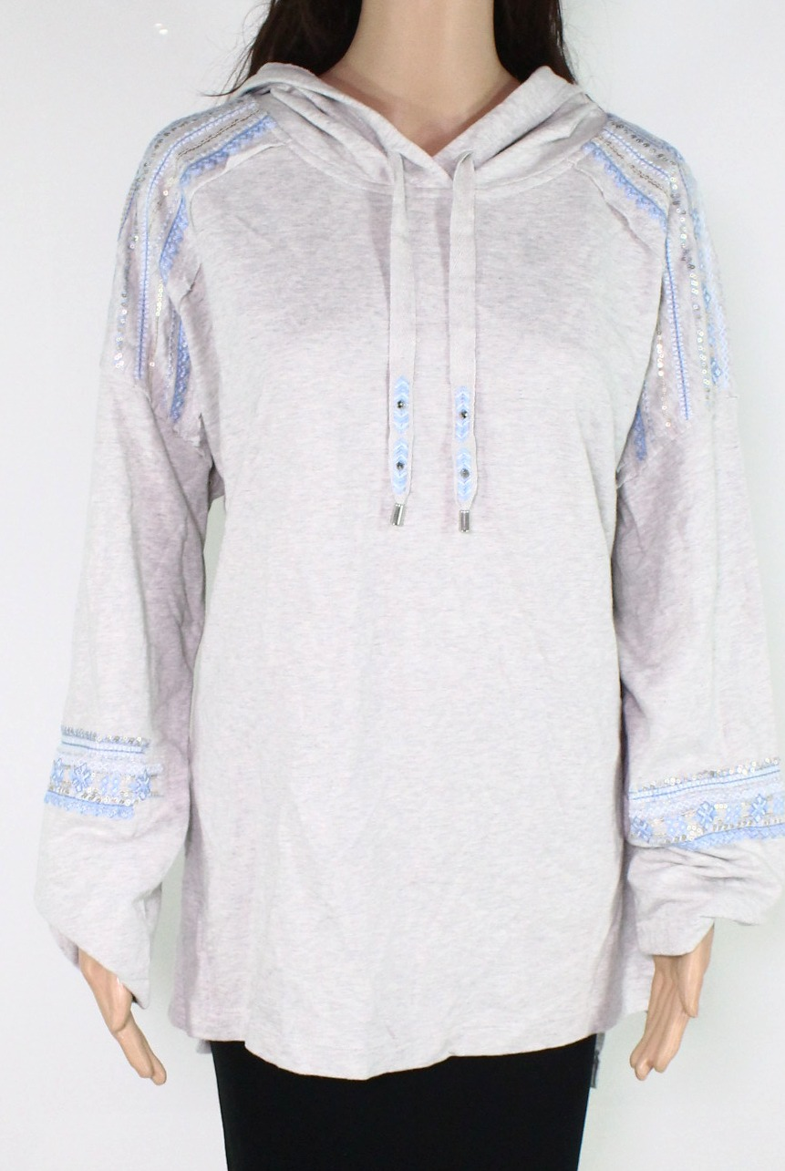 Womens Plus Embroidered Heather Hoodie Style /& Co