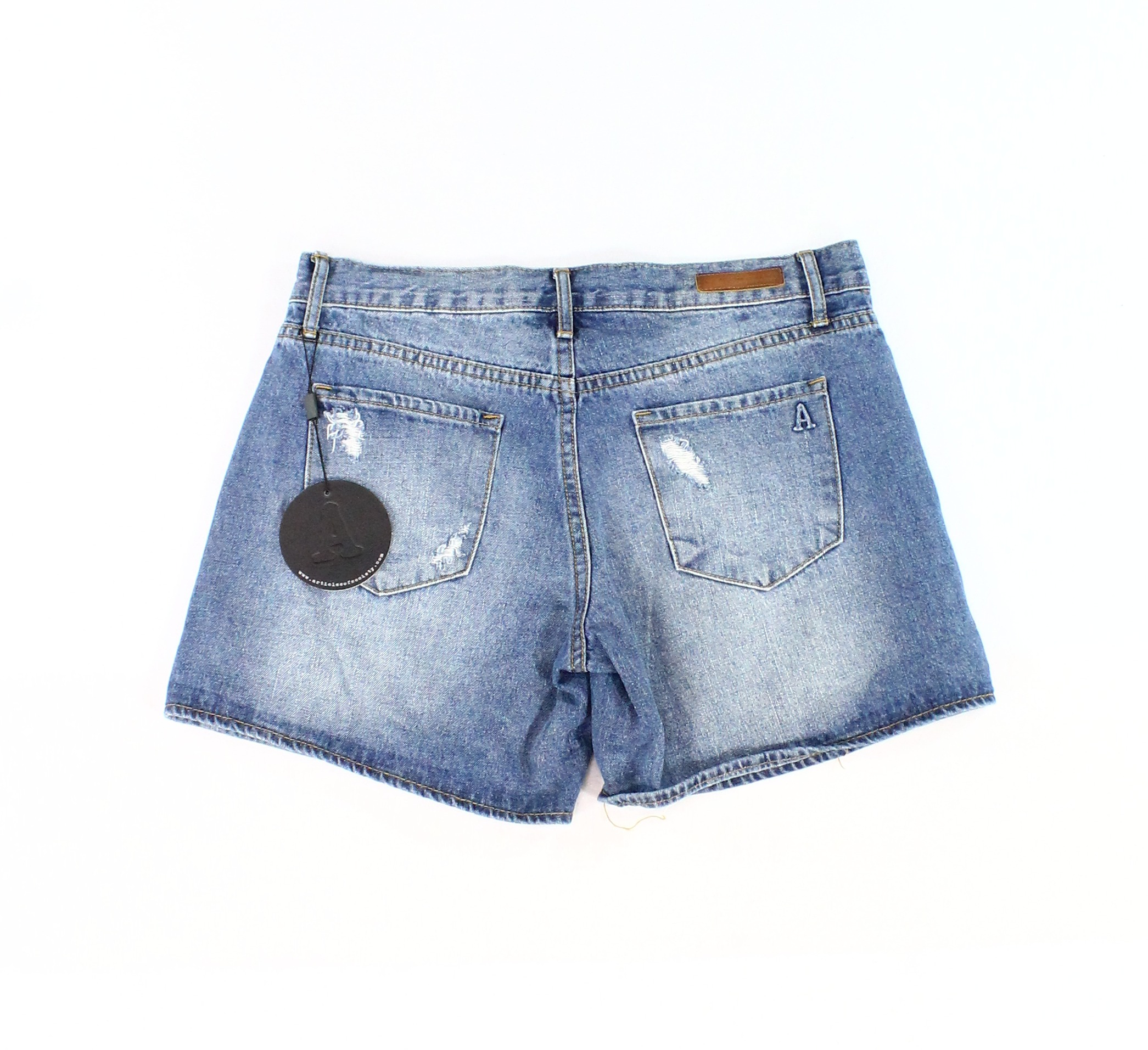6be9961d81 Details about Articles Of Society NEW Blue Womens Size 26 Denim Distressed  Shorts $54 692